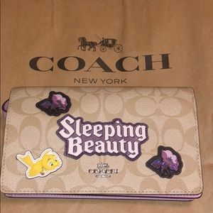 100% Authentic Coach Disney Sleeping Beauty Crsbdy